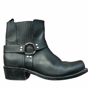 BOULET Black Leather Broad Square Toe Riding Boots